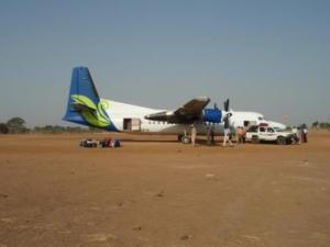After landing at the new Aweil airport