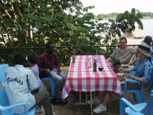 Enjoying Ethiopian lunch on the Nile in Juba