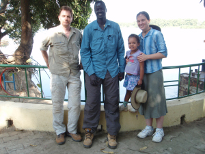 The Timpir crew after lunch on the Nile in Juba.