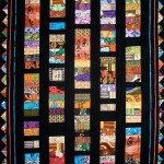 A handmade quilt using fabrics from South Sudan
